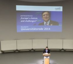 Barroso – Universitätsrede 2014